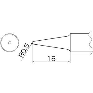 白光 こて先 2BL型 〔品番:T20-BL2〕[4003985]