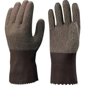 ショーワ 天然ゴム手袋(裏布付) No350ゴム作業用手袋 ブラウン Mサイズ 〔品番:NO350-M〕[4092449]