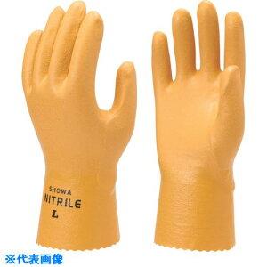 ショーワ ニトリルゴム手袋 NO770水産ニトローブ イエロー Sサイズ 〔品番:NO770-S〕[4092651]