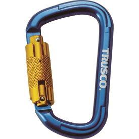TRUSCO スライドロック付カラビナ 線径10.5mmx110mm ブルー 〔品番:TKNSL1111BL〕[4150422]