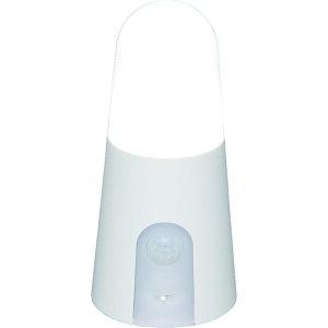 IRIS 乾電池式LED屋内センサーライト ホワイト スタンドタイプ 昼白色 〔品番:BSL40SN-W〕[4953151]