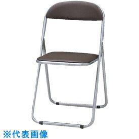 TRUSCO 折りたたみパイプ椅子 ウレタンレザーシート貼り ブラウン 〔品番:FC-2000TS BR〕[5125022]