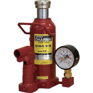 イーグル 置針式ゲージ付油圧ジャッキ 能力10t 〔品番:ED-100-PG-75H-100〕[5224047]1650「送料別途見積り,法人・事業所限定,直送」