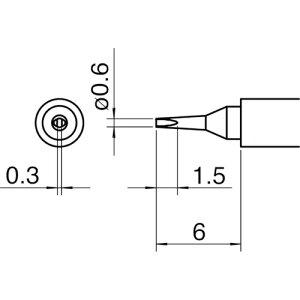 白光 こて先/0.6D型 〔品番:T30-D06〕[7535210]