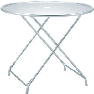 テラモト ガーデンアルミテーブル(折畳式) 〔品番:MZ-610-120-0〕[7826851]「送料別途見積り,法人・事業所限定」【大型】