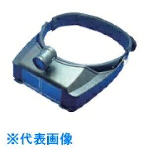 池田レンズ LEDライト付ヘッドルーペ 2.7倍 〔品番:BM-120LC〕[8051770]「送料別途見積り,法人・事業所限定,取寄」