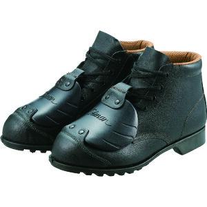 シモン 安全靴甲プロ付 編上靴 FD22D−6 25.0cm 〔品番:FD22D-6-25.0〕[8166232]