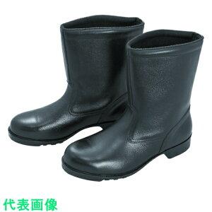 ミドリ安全 ゴム底安全靴 半長靴 V2400N 25.5CM 〔品番:V2400N-25.5〕[8217960]