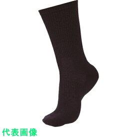 ミドリ安全 安全靴用靴下 強フィットソックス ブラック 〔品番:TFS-01-BK〕[8357373]