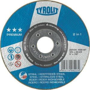 TYROLIT 研削砥石 ロンデラー 125mm #60 〔品番:908229〕[8367699]