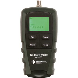 グッドマン LCD表示LAN・電話・同軸テスターNC100 〔品番:NC100〕[8370417]660「送料別途見積り,法人・事業所限定,直送」