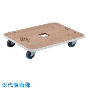 TRUSCO 木製平台車 ジュピター 450X450 φ75 200kg 〔品番:JUP-4545-200〕[8555564]
