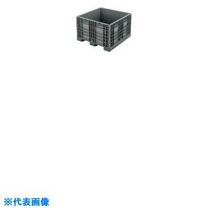 リス パレットボックスBJ−S・1111X70S分解収納型 グレー 〔品番:BJ-S.1111X70S GY〕[8686837]「送料別途見積り,法人・事業所限定」【大型】