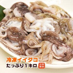 イイダコ 1kg 下処理済み 塩もみ済み 送料無料 バラ凍結で使いやすい タコ たこ 飯蛸