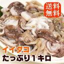 【イイダコ】1kg 下処理済み/塩もみ済み/【送料無料】/バラ凍結で使いやすい/タコ/たこ/