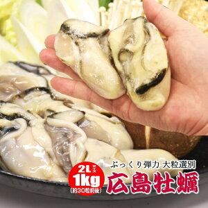 牡蠣 むき身 広島県産 大粒1キロ 冷凍カキ 特大 2Lサイズ お鍋にピッタリ