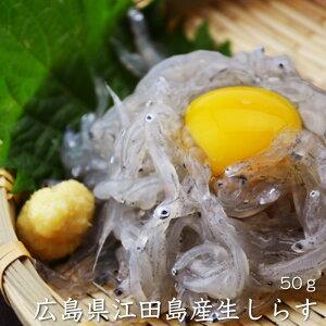 同梱におすすめ!【広島県産】生しらす 50g シラス好きに海鮮ギフトとしても喜ばれます(冷凍便)[メール便:不可]