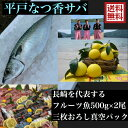 青空レストラン に出た フルーツ魚 送料無料 平戸なつ香サバ 約500g×2尾 三枚おろし (真空パック)刺身 で フィー…