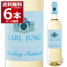 カールユング リースリング 白 脱アルコールワイン (ノンアルコール)750ml×6本【送料無料※一部地域は除く】