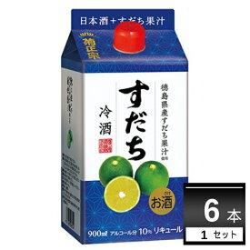菊正宗 すだち冷酒 900ml×6本(1ケース)【送料無料※一部地域は除く】