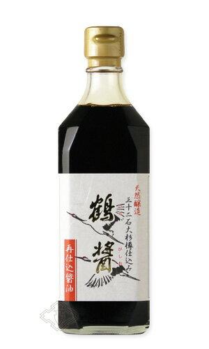 鶴醤500ml【醤油/ヤマロク醤油/つるびしお】