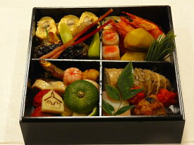 京都、冷蔵、一段重おせち(自家製手作り・生おせち・数量限定)1人から2人用、約30種入、約20センチ角、簡易重箱入
