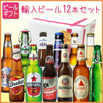 [ビールギフト]人気輸入ビール12本セット 【通年】