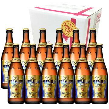 【ビールギフト】 サントリー ザ・プレミアム・モルツ 中瓶 ビ−ル12本セット【お中元・お歳暮・ギフト】【ラッキーシール対応】