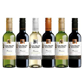 飲みきりサイズ!ルイスフェリペエドワーズ レゼルバ 375ml 6本セット (ワイン) 【ハーフ】 【ラッキーシール対応】