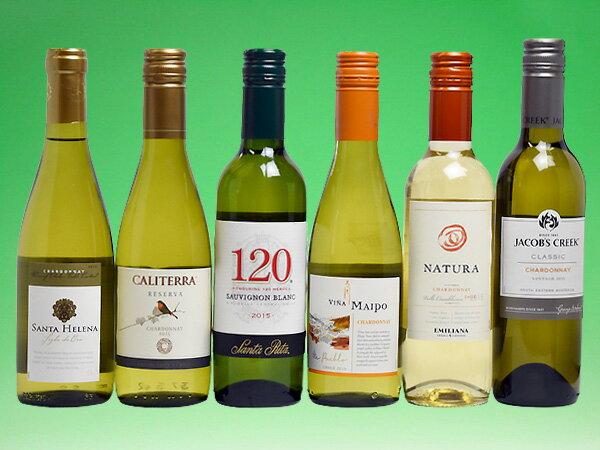 飲みきりサイズ! コスパの光る南半球 ハーフ白ワイン6本セット (ワイン) 【ハーフS】 【送料無料S】 【白S】