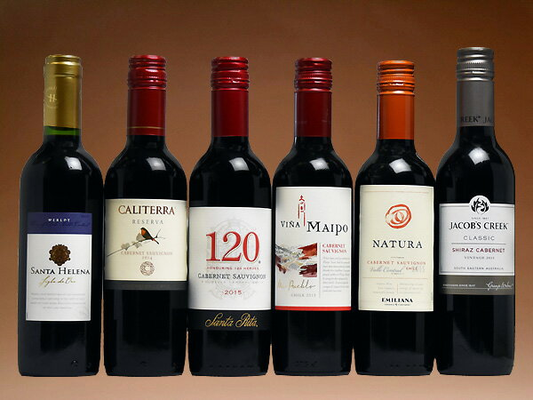 飲みきりサイズ! コスパの光る南半球 ハーフ赤ワイン6本セット (ワイン) 【ハーフS】 【送料無料S】 【赤S】