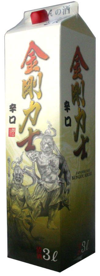 【8本で送料無料!】【日本酒・清酒・3L・大容量】金剛力士 3000ml【北海道・沖縄・東北 送料無料対象外】