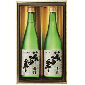 ギフトセット 清夜<純米酒>美少年 剣門<純米吟醸>各720ml和食や珍味、日本の味覚と相性抜群 プロがお届けする地酒・日本酒。還暦祝いや父の日、開店祝い、パーティー宴会への手土産