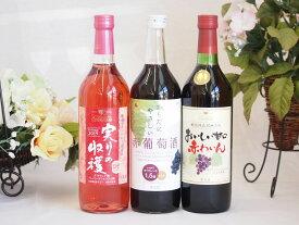 シャンモリ すっきりお美味 やや甘口ワインセット720ml×3本(山梨県) バレンタイン