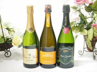 【送料無料セット】【第2弾】世界のスパークリングワイン飲み比べ!辛口3本セット(スペイン、フランス、イタリア泡ワイン3本セット【smtb-TK】【YDKG-tk】