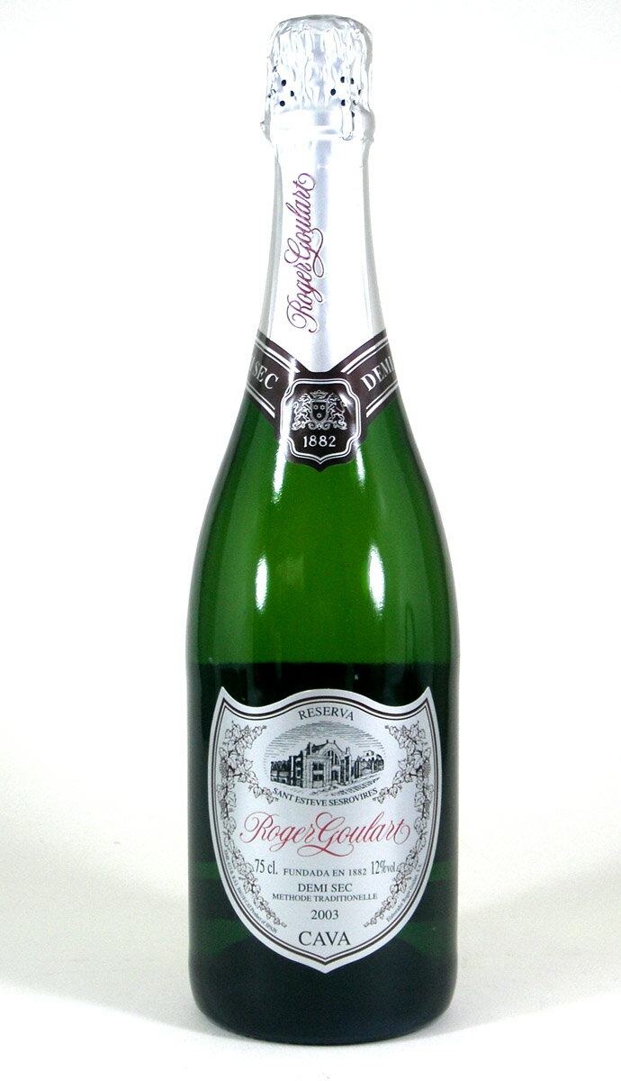 【 12本セット】ロジャーグラート カヴァ ドゥミ・セック 750ml(CAVA Roger Goulart Demi Sec)スパークリングワイン