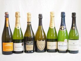 ドンペリ飲み比べ7本セット(ドンペリニヨン 白 正規輸入品750ml+世界の厳選スパークリングワイン(辛口5本、甘口1本)