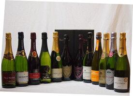 噂のドンペリ飲み比べ12本セット(ドン ペリニヨン ロゼ、ドンペリニヨン白(ギフトボックス付)+ロジャーグラートロゼ750+世界の厳選スパークリングワイン 750ml×12本