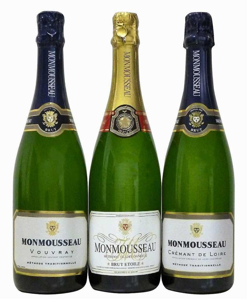 4セット フランス セレクション シャンパン製法 スパークリング白ワイン3本セット 750ml×3本×4セット