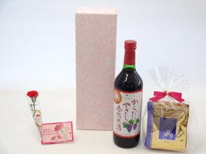 母の日 ギフトセット ワインセット 挽き立て珈琲(ドリップパック5パック)(シャンモリワイン からだにやさしい赤葡萄酒 赤ワイン 720ml 盛田甲州ワイナリー(山梨県))母の日カード お母さんあ