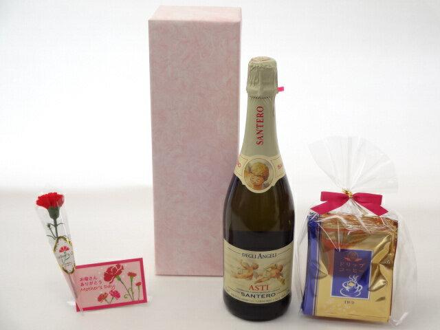 母の日 ギフトセット ワインセット 挽き立て珈琲(ドリップパック5パック)(天使のアスティ ワイン 天使のアスティ・スプマンテ スパークリングイタリアワイン(甘口)750ml)母の日カード お母さんありがとうカーネイション