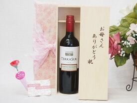 遅れてごめんね♪母の日 赤ワイン好きなお母さんへ♪テラ・スル 赤(チリ)750mlお母さんありがとう木箱セット