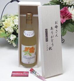 【母の日】北海道の詩 北海道産葡萄100% おたる 完熟ナイヤガラ  白ワイン(甘口) 720ml(北海道)お母さんありがとう木箱セット