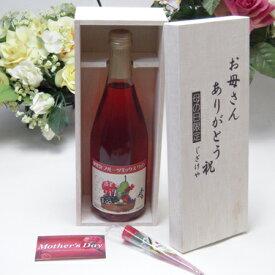 【母の日】北海道産葡萄100% おたる 微発泡ワイン ナイアガラ(ロゼ/やや甘口) 500ml(北海道)お母さんありがとう木箱セット
