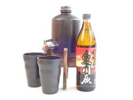 焼酎サーバー豪華セット (神楽酒造 芋焼酎  東国原(ひがしこくばる)900ml )