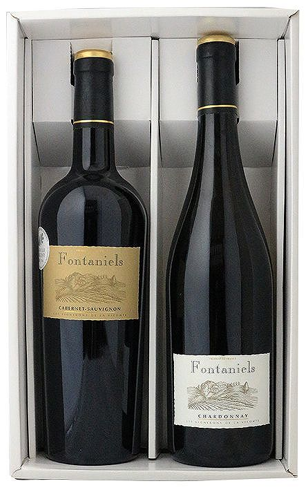 アグリ フランスワインセット(南フランス産(カベルネソービニヨン、シャルドネ)750ml×各1)