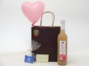 お誕生日リキュールセット(奥の松酒造 桃リキュール ももとろ 500ml 7%(福島県))メッセージカード ハート風船 ミニチョコ付き