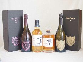 正規ドンペリと正規ピンクのドンペリ響JAPANESE HARMONY シングルモルト知多 サントリーウイスキー シングルグレーンモルト 700ml 4本セット