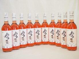 【最大2000円オフクーポン9日1:59迄】日本ワイン おたる醸造 日本産キャンベルアーリ ロゼ やや甘口 (北海道)720ml×10本