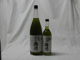 こんな梅酒福袋が欲しかったぁ 2本セット (中野BC 緑茶梅酒)1800ml×1本 720ml×1本